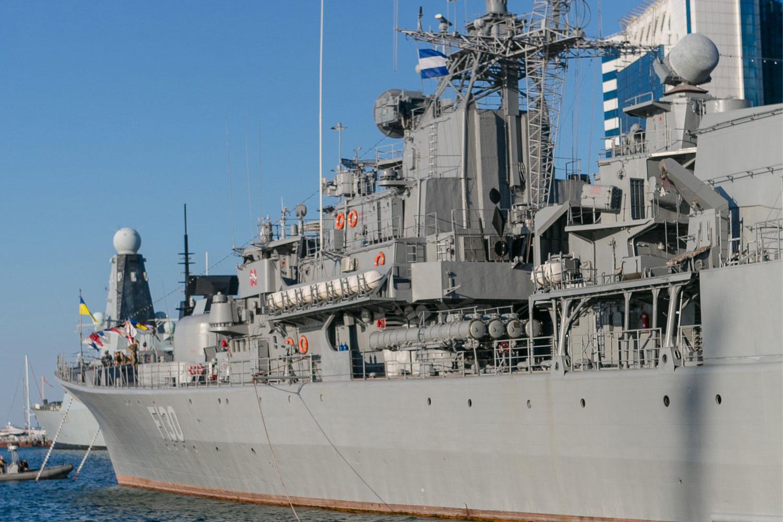 naval fleet at the sea