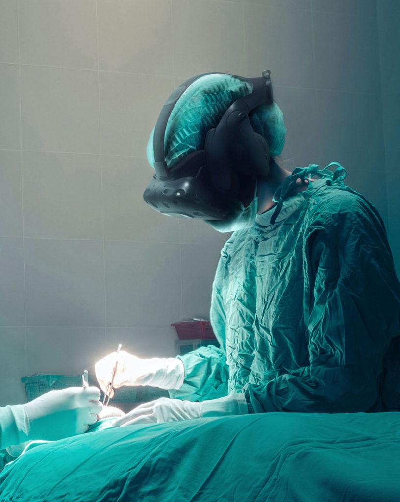 Surgeon doing surgery